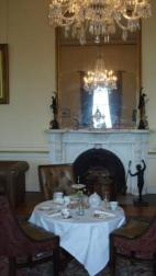 The beautiful sitting room, now used to serve afternoon tea.